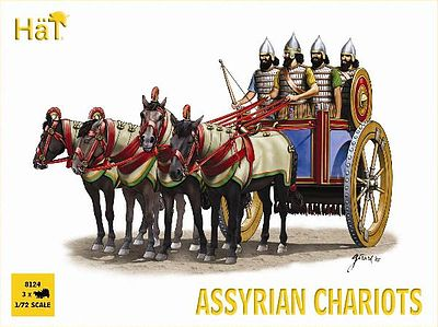 Hat Assyrian Chariots Plastic Model Military Figure Set 1/72 Scale #8124