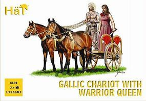 Hat Celtic Chariot with Queen Plastic Model Military Vehicle Kit 1/72 Scale #8140