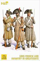 Hat French Infantry in Great Coats Plastic Model Military Figure Set 1/72 Scale #8146