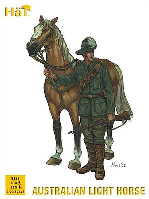Hat Industries Figures Australian Light Horse -- Plastic Model Military Figure Set -- 1/72 Scale -- #8153