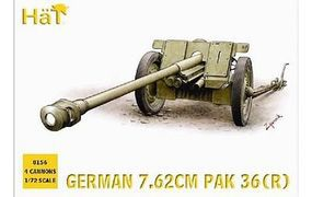 Hat WWII Germans Pak36r Plastic Model Military Figure Kit 1/72 Scale #8156