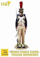 Hat French Middle Guard Plastic Model Military Figure Set 1/72 Scale #8167