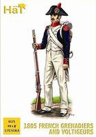 Hat 1805 French Elites Plastic Model Military Figure Set 1/72 Scale #8171