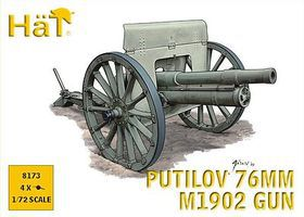Hat WWI Putilov 76mm Gun Plastic Model Weapon Kit 1/72 Scale #8173