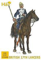 Hat British 17th Lancers Plastic Model Military Figure 1/72 Scale #8181