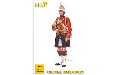 Hat Colonial Wars Highlanders Plastic Model Military Figure 1/72 Scale #8202