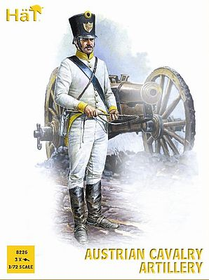 Hat Napoleonic Austrian Cavalry Artillery Plastic Model Military Figure Set 1/72 Scale #8226