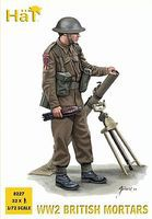Hat WWII British Mortar Team Plastic Model Military Figure Set 1/72 Scale #8227