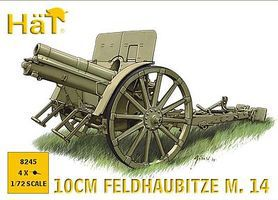 Hat WW-I Austrian 10cm Gun Plastic Model Weapon Kit 1/72 Scale #8245