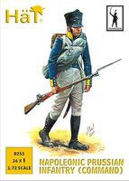 Hat Prussian Infantry Command Plastic Model Military Figure Set 1/72 Scale #8255
