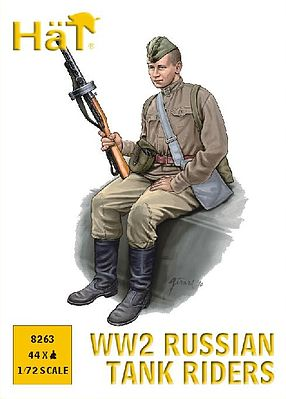 Hat Russian Tank Riders Plastic Model Military Figure Set 1/72 Scale #8263