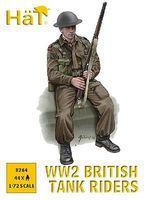 Hat British Tank Riders Plastic Model Military Figure Set 1/72 Scale #8264