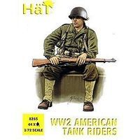 Hat US Tank Riders Plastic Model Military Figure Set 1/72 Scale #8265