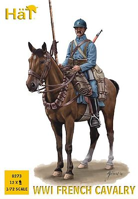 Hat WWI French Calvary Plastic Model Military Figure Set 1/72 Scale #8273