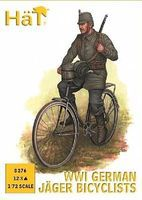 Hat WW-I German Jaeger Bicyclists Plastic Model Military Figure 1/72 Scale #8276