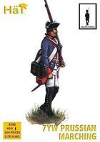 Hat 7YW Prussian Marching Plastic Model Military Figure Set 1/72 Scale #8280
