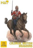 Hat Colonial British Dragoons Plastic Model Military Figure 1/72 Scale #8288