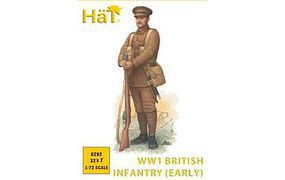 Hat WWI British Infantry Plastic Model Military Figure Kit 1/72 Scale #8292