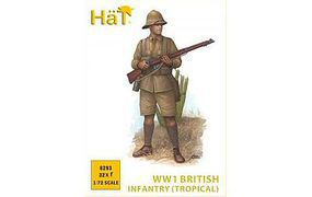 Hat WWI British Infantry Tropical Plastic Model Military Figure Kit 1/72 Scale #8293