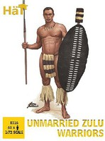 Hat 1/72 Unmarried Zulu Warriors (60)