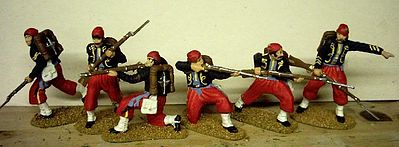 Hat Zouaves Plastic Model Military Figure Set 1/32 Scale #9101