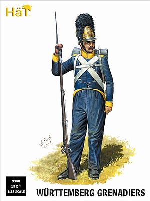 Hat Wurttemberg Grenadiers Plastic Model Military Figure Set 1/32 Scale #9308