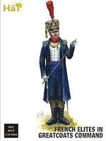 Hat French Command in Great Coats Plastic Model Military Figure Set 1/32 Scale #9311