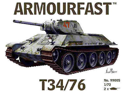 Hat Russian T34 with 75mm Gun Plastic Model Military Vehicle Kit 1/72 Scale #99005