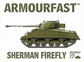 Hat Sherman Firefly Tanks Plastic Model Military Vehicle 1/72 Scale #99017