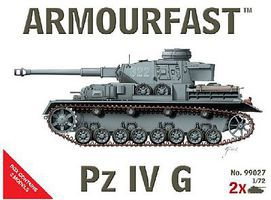 Hat Panzer IV Ausf.G Tank (2 Kits) 1/72 Scale Plastic Model Military Vehicle #99027