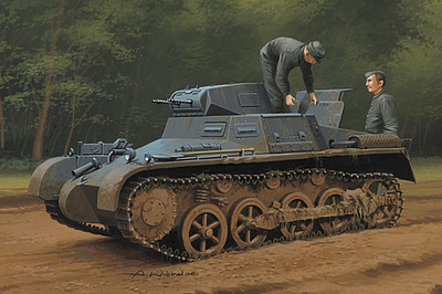 HobbyBoss German Panzer 1 AUSF A Sd.Kfz 101 Plastic Model Military Vehicle Kit 1/35 Scale #80145