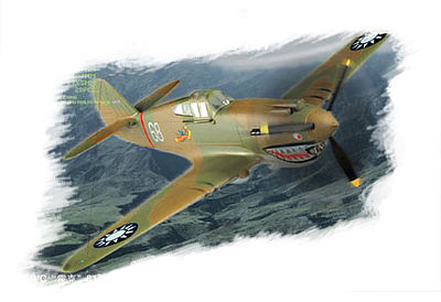 Hobby Boss Easy Build P-40B/C Hawk-81 -- Plastic Model Airplane Kit -- 1/72 Scale -- #80209