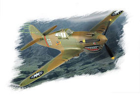 HobbyBoss Easy Build P-40B/C Hawk-81 Plastic Model Airplane Kit 1/72 Scale #80209