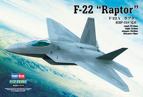 HobbyBoss EZ F-22 Raptor Plastic Model Airplane Kit 1/72 Scale #80210