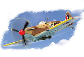 HobbyBoss Spitfire Mk VB/Trop w/Aboukir Filter Snap Plastic Model Aircraft Kit 1/72 Scale #8021