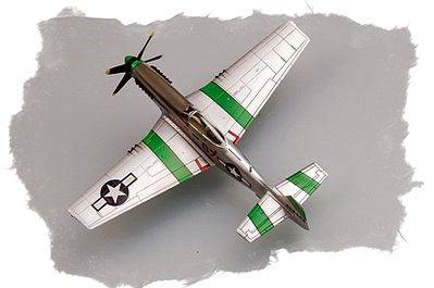 HobbyBoss Easy Build P-51D Mustang IV Plastic Model Airplane Kit 1/72 Scale #80230