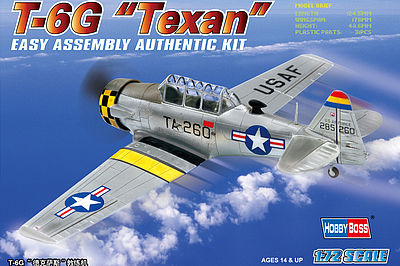 Hobby Boss EB North American T-6G Texan -- Plastic Model Airplane Kit -- 1/72 Scale -- #80233