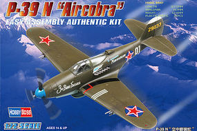 HobbyBoss EB P-39N Airacobra Soviet AF Plastic Model Airplane Kit 1/72 Scale #80234