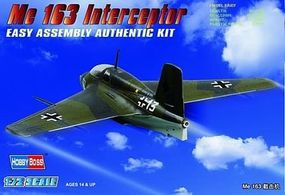 HobbyBoss EB Messerschmitt Me 163 Fighter Plastic Model Airplane Kit 1/72 Scale #80238