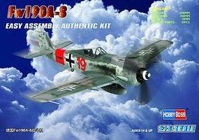 HobbyBoss Fw190A-8 German Fighter Plastic Model Aircraft Kit 1/72 Scale #80244