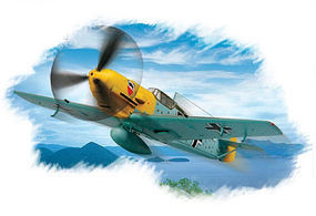 HobbyBoss BF109E-3 Plastic Model Aircraft Kit 1/72 Scale #80253