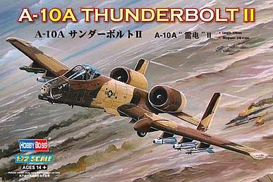 Hobby Boss A-10A Thunderbolt II -- Plastic Model Airplane Kit -- 1/72 Scale -- #80266