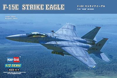 HobbyBoss F-15E Strike Eagle Plastic Model Airplane Kit 1/72 Scale #80271