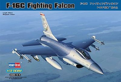 HobbyBoss F-16C Fighting Falcon Plastic Model Airplane Kit 1/72 Scale #80274