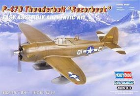 HobbyBoss P-47D Thunderbolt Razorback Plastic Model Airplane Kit 1/72 Scale #80283