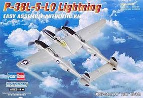HobbyBoss P-38L-5-LO Lightning Plastic Model Airplane Kit 1/72 Scale #80284