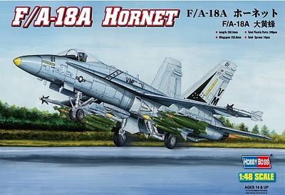 HobbyBoss F/A-18A Hornet Plastic Model Airplane Kit 1/48 Scale #80320