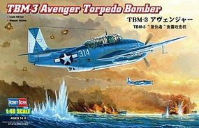 HobbyBoss TBM-3 Avenger Torpedo Bomber Plastic Model Airplane Kit 1/48 Scale #80325