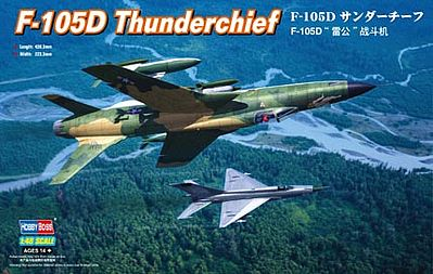 Hobby Boss F-105D Thunderchief -- Plastic Model Airplane Kit -- 1/48 Scale -- #80332