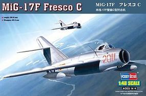 HobbyBoss MiG-17F Fresco C Plastic Model Airplane Kit 1/48 Scale #80334